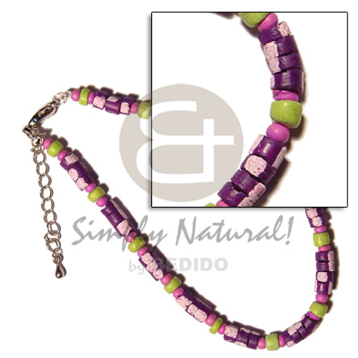 violet 4-5mm coco Pokalet. splashing  neon green/pink coco Pokalet. combination - Home