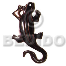 Natural black tab lizard carving 50mm carved pendants