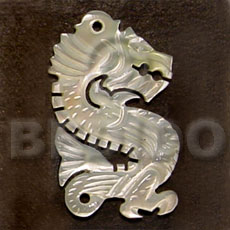 Ethnic dragon carving mop 45mm carved pendants