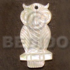 Teens owl mop carving 40mm carved pendants