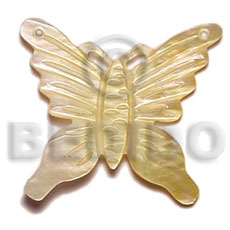 Fashion 45mm carved mop butterfly carved pendants