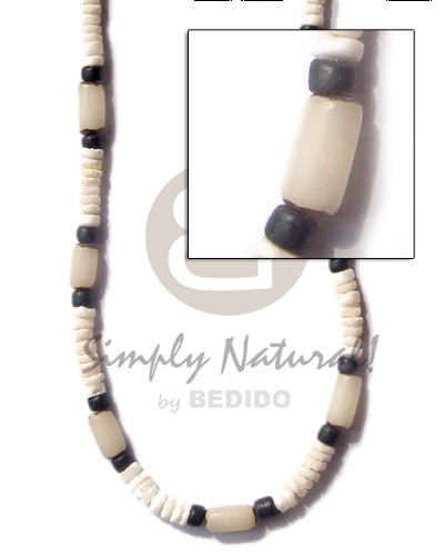Native 4-5mm heishe white clam shell necklace