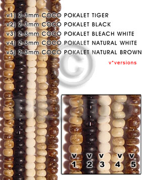 2-3mm coco pokalet natural brown - Home