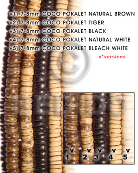 Native 7-8mm coco pokalet natural brown all