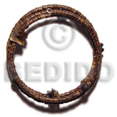 Cebu 2-3mm coco heishe natural brown bracelets