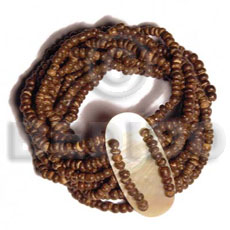 Philippines 10 layers elastic 2-3mm coco bracelets