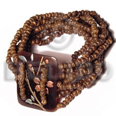 Native 10 layers elastic 2-3mm coco bracelets