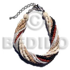 Teens twisted 6 rows 2-3mm coco coco bracelets