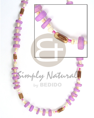 Natural 7-8mm c. pokalet lilac 2-3 hshe choker necklace
