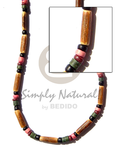 Philippines bamboo tube coco pokalet choker necklace