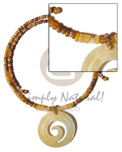 Philippine 2-3mm tiger coco pokalet shell necklace