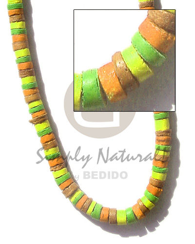 Ladies 4-5mm coco heishe lifesaver combination coco necklace