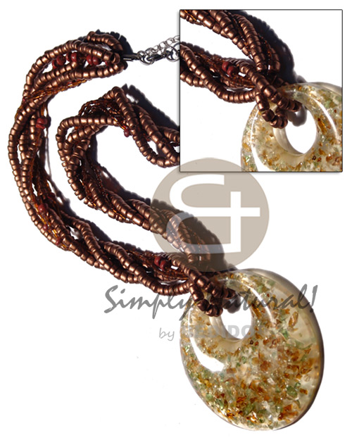 Philippine 5 layers intertwined 4-5mm coco long endless necklace