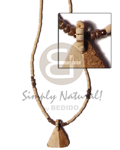 Unisex 2-3mm coco heishe natural 2-3 coco necklace