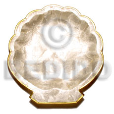 Teens noble scallop small brass philippine gifts and decor item