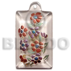 Fashion dogtag 35mmx20mm clear white resin hand painted pendants