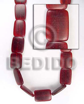 Natural red horn flat square all