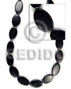 Wholesale black horn flat oval all