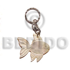 Philippines 40mm carved mop shell keychain fish hand painted keychains