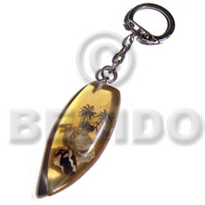 Philippines 50mmx27mm transparent clear amber hand painted keychains