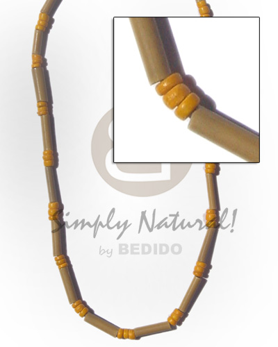 Wholesale bamboo tube bright yellow choker necklace