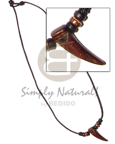 Philippine antique horn coco beads bone necklace horn necklace