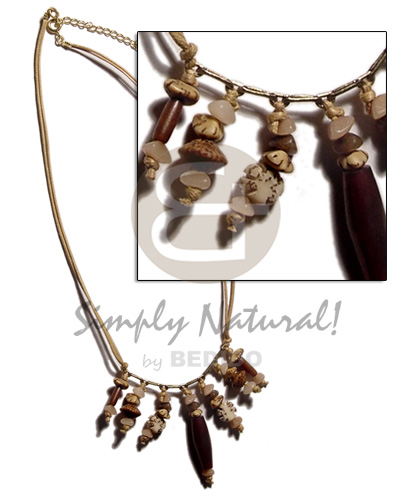 Ethnic dangling asstd. buri seeds choker necklace