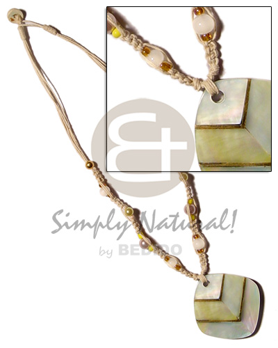 Cebu macrame bead accent and shell necklace