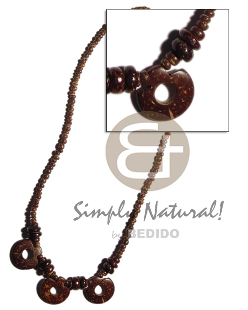Natural 2-3mm coco pokalet coco choker necklace
