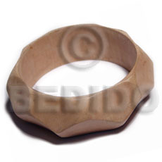 Handmade plain wholesale raw natural wooden blank bangle casing only shell necklace