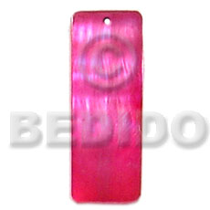 Philippine 40mmx15mm pink hammershell resin shell pendant