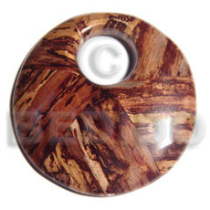 Ethnic 70mm round laminated wood wooden pendant