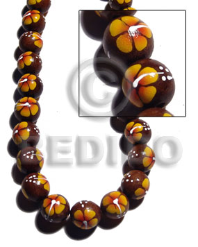 Native 15mm robles round beads all