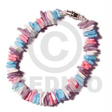 Unisex white rose in pastels bracelets