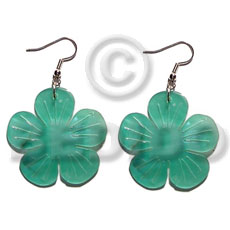 Philippine dangling 35mm hammershell flower shell earrings