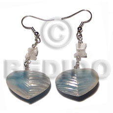 Native dangling 20mm rouunded back to shell earrings