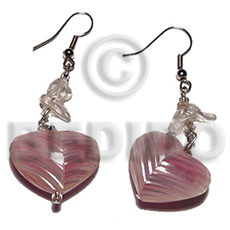 Handmade dangling 20mm rouunded back to shell earrings