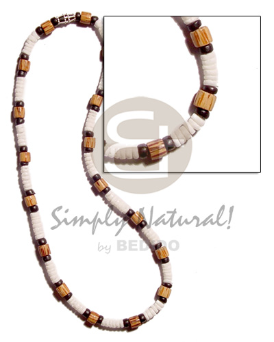 Unisex 4-5mm white clam heishe shell necklace