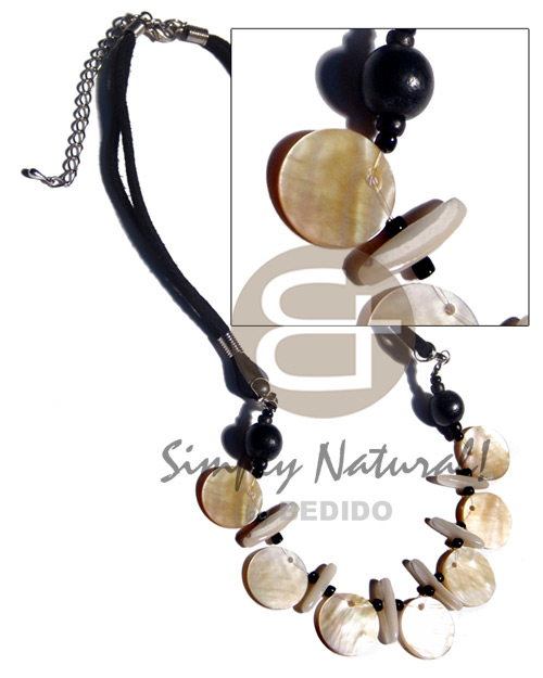 Fashion 7 pcs. 20mm round mop shell necklace