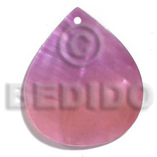 Philippines kabibe rounded teardrop 35mmx30mm-two tone shell pendant