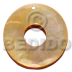 Ladies 30mm mop ring 15mm shell pendant