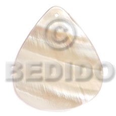 Native 40mmx34mm kabibe rounded teardrop shell pendant