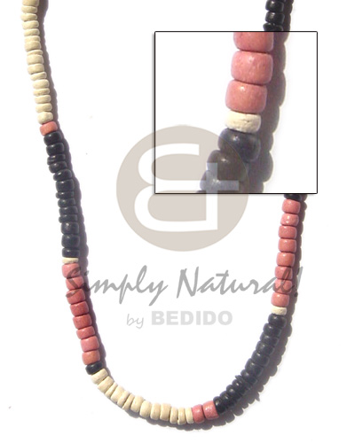 Cebu 4-5 coco pukalet black old rose bleach choker necklace