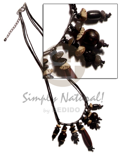 Native dangling asstd. buri seeds choker necklace