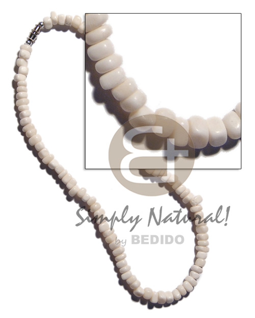 Cebu white carabao bone nuggets bone necklace horn necklace