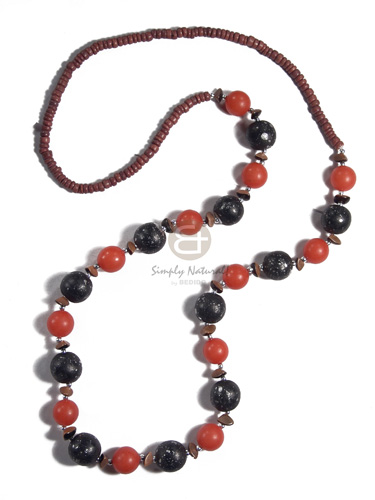 Handmade light brown 4-5mm coco pokalet long endless necklace