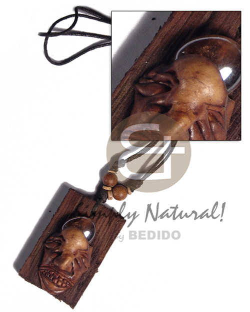 Philippines clay skull on 60mmx40mm adjustable necklace