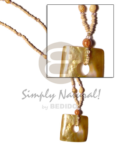 Philippine 2-3 coco pokalet natural shell necklace