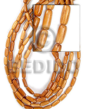 Ethnic bayong oval wood 10x20mm all