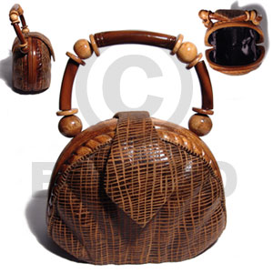 Unisex collectible handcarved laminated acacia wooden acacia bags